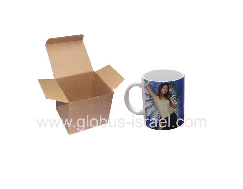 קופסא מקרטון לספל